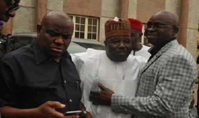 Wike-Fayose and PDP chairman Sheriff